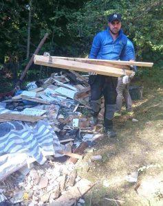 städning av byggavfall och grovsopor vid bygge