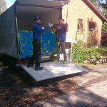 Nu är byggskräpet bortstädat och tas till återvinningscentral